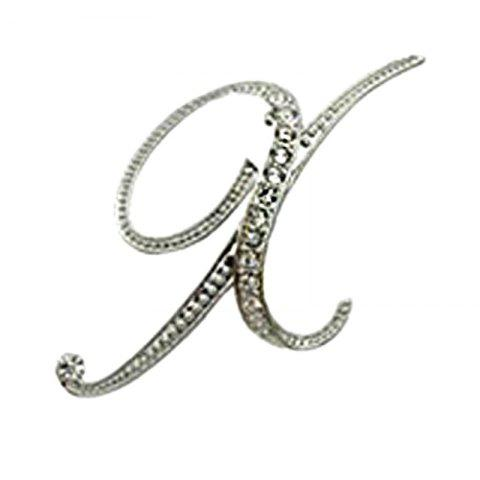 New Design of Crystal Brooch  Fashion Classic Charm Accessories Letters for Woman - XL