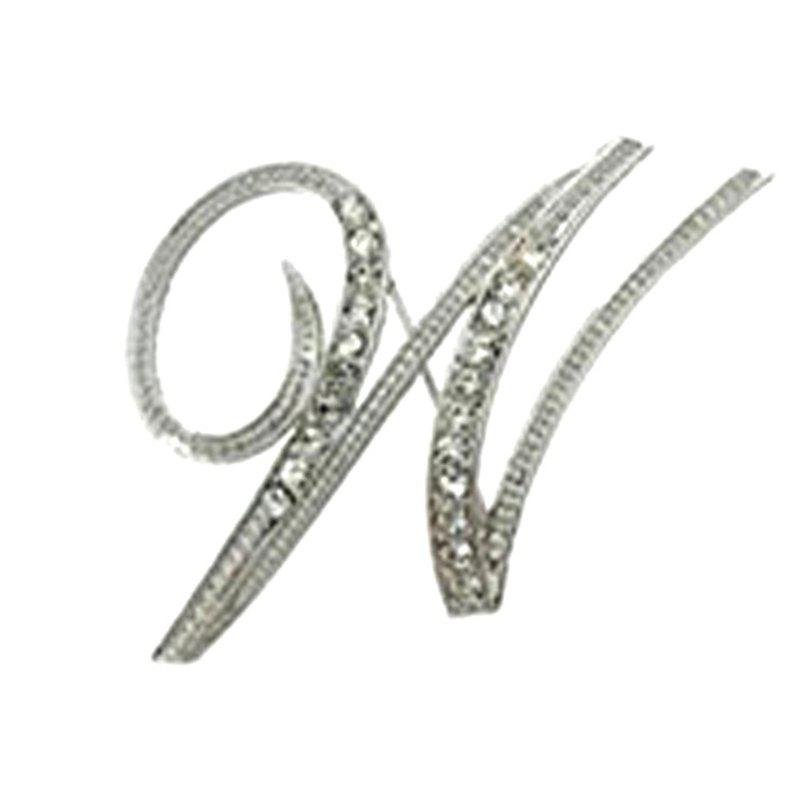 New Design of Crystal Brooch  Fashion Classic Charm Accessories Letters for Woman - W