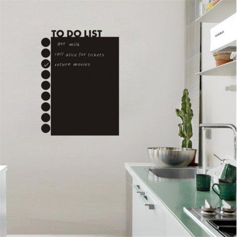 Blackboard Stickers To Do List for Office Decoration Waterproof Removable - BLACK