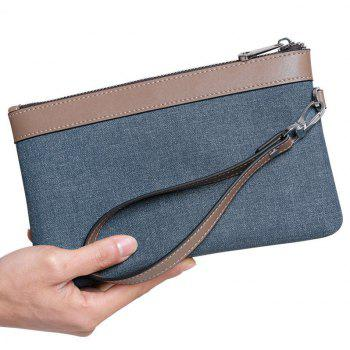Large Capacity Casual Hand Bag Men's Multi-Purpose Waterproof Nylon Cloth Clutch Canvas - ORANGE
