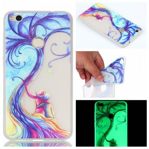 Cover Case for Huawei P8 lite(2017) Lovers Tree Soft TPU Thin Transparent Noctilucence Cover Shell Case - COLOUR