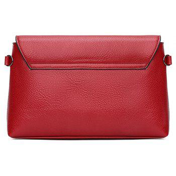 Fashionable Splicing Envelope Bag - BURGUNDY