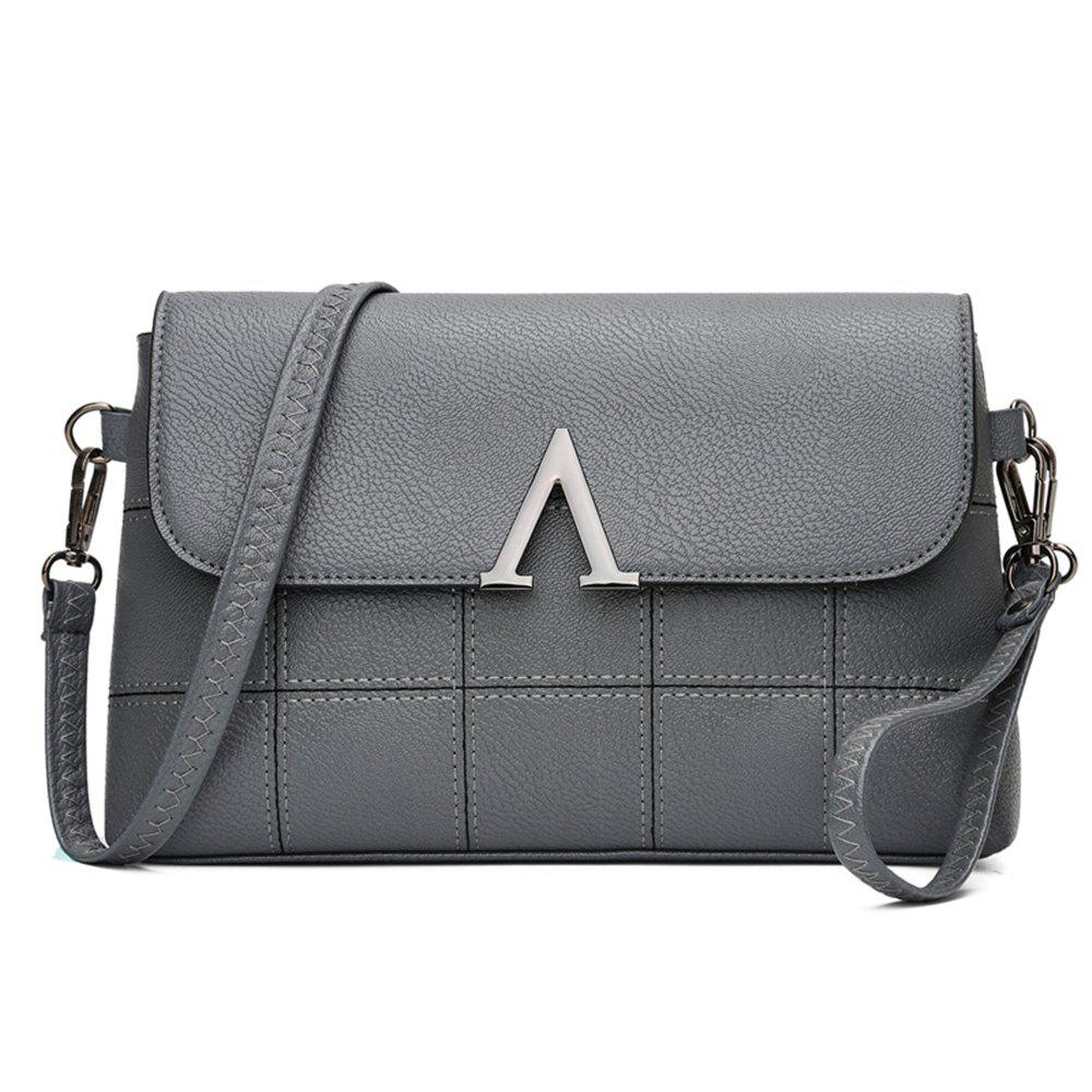 Fashionable Splicing Envelope Bag - GRAY