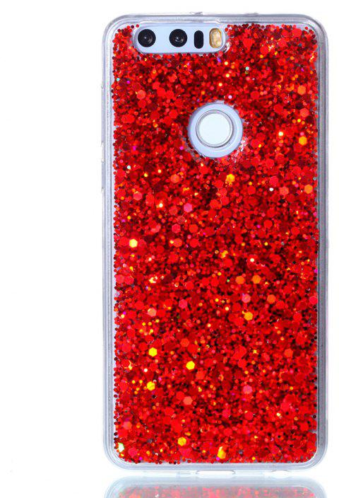 Case For Huawei Honor 8 Luxury Flash Soft TPU Phone Case - RED