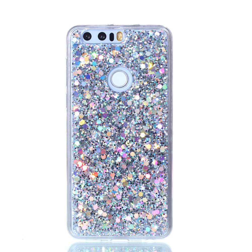 Case For Huawei Honor 8 Luxury Flash Soft TPU Phone Case - SILVER