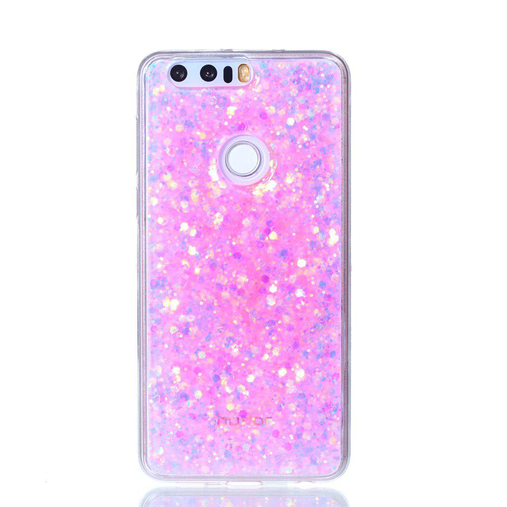 Case For Huawei Honor 8 Luxury Flash Soft TPU Phone Case - PINK