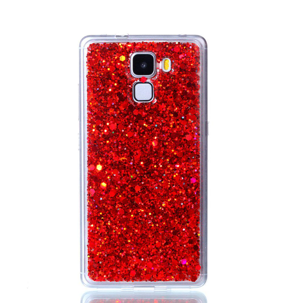 Case For Huawei Honors 7 Luxury Flash Soft TPU Phone Case - RED