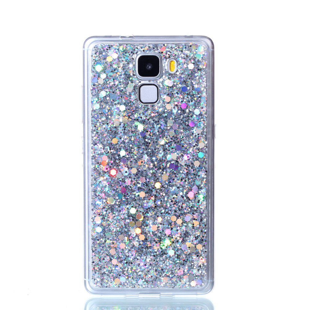 Case For Huawei Honors 7 Luxury Flash Soft TPU Phone Case - SILVER