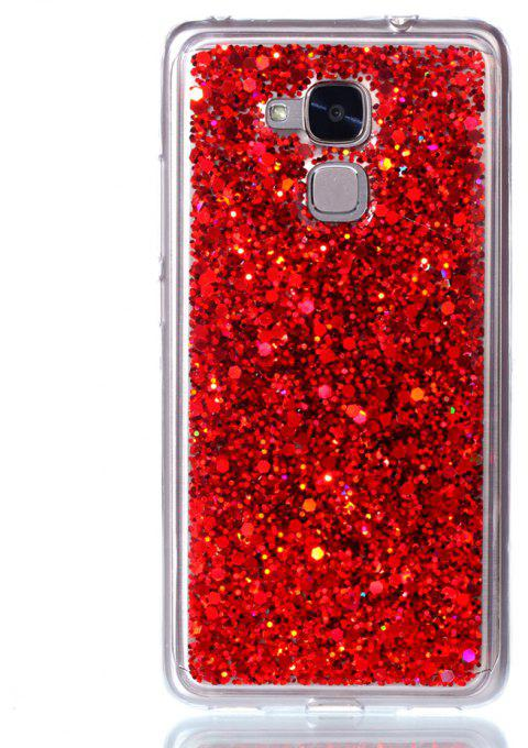 Phone Case For Huawei  Honor 5C Luxury Flash Soft TPU Phone Case - RED