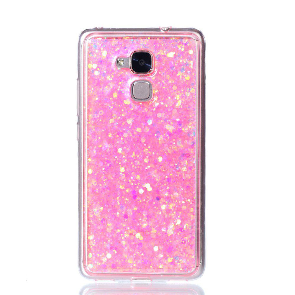 Phone Case For Huawei  Honor 5C Luxury Flash Soft TPU Phone Case - PINK