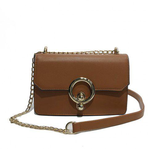 Messenger Small Handbags Fashion Personality Shoulder Bag - BROWN
