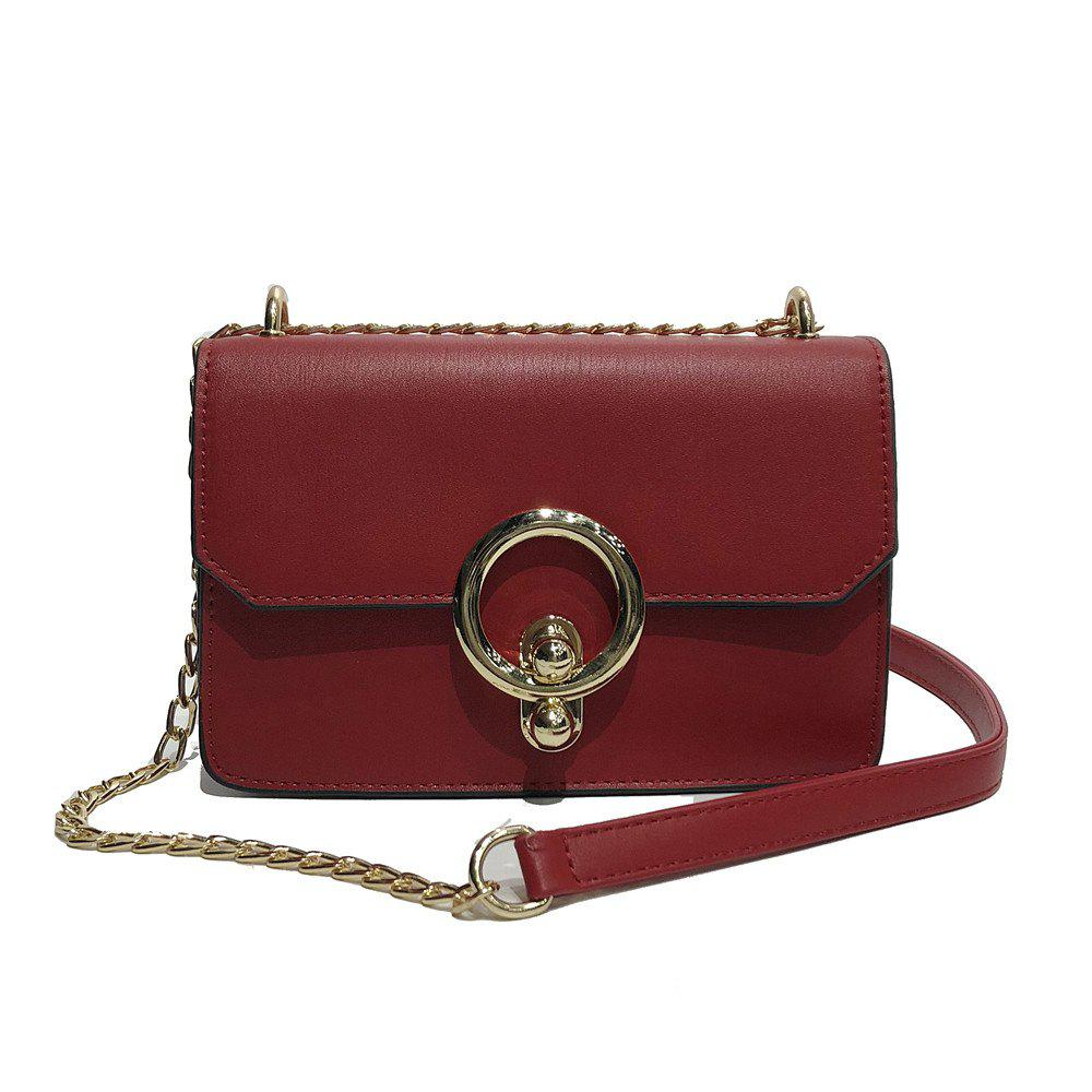 Messenger Small Handbags Fashion Personality Shoulder Bag - RED