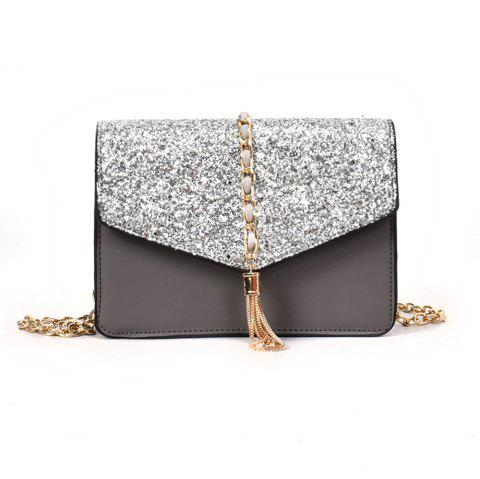 Small Bag Simple All-match Tassel Shoulder Messenger Chain Tide - LIGHT GRAY