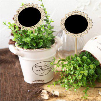 170815 Hollow Oval Blackboard Wedding Parties Decoration (10 Pack) - WOOD