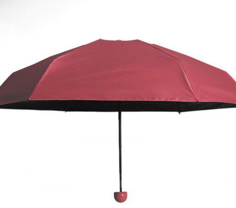 Capsule de protection solaire Super Mini Umbrella - Rouge AFTER FOLDING 17 X 4 CM