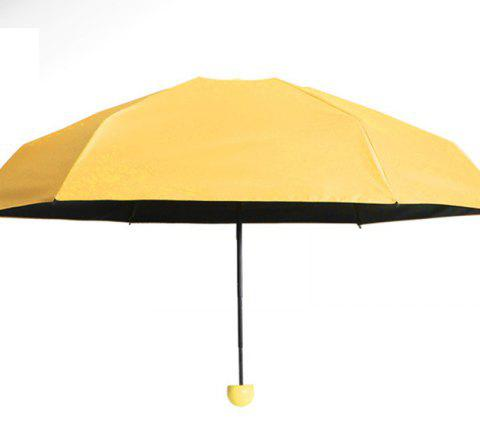 Capsule de protection solaire Super Mini Umbrella - Jaune AFTER FOLDING 17 X 4 CM