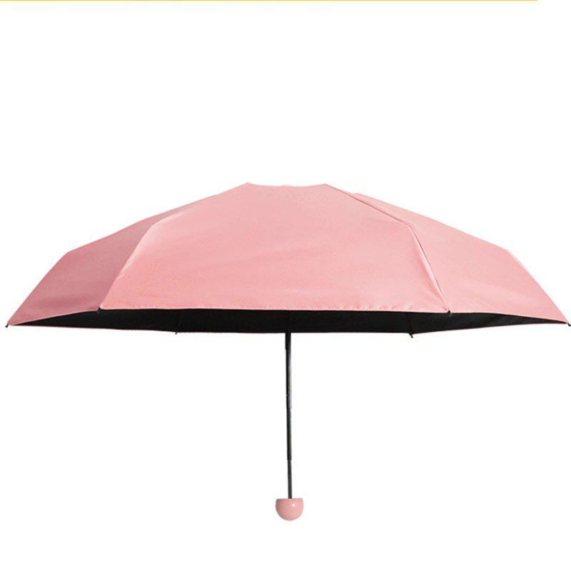 Super Mini Umbrella Sunscreen Capsule - PINK AFTER FOLDING 17 X 4 CM