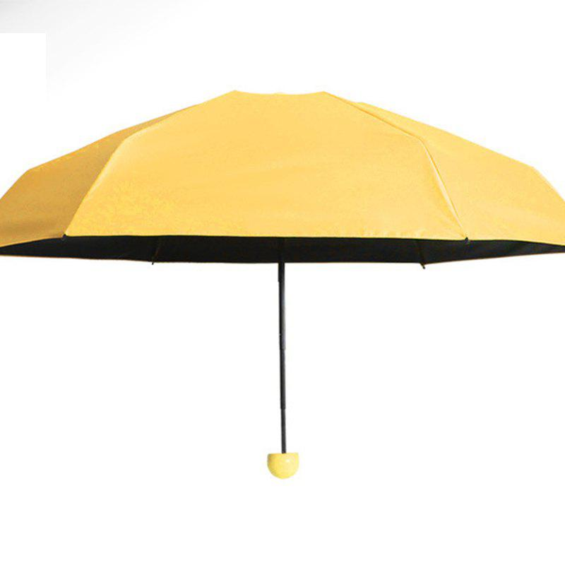 Super Mini Umbrella Sunscreen Capsule - YELLOW AFTER FOLDING 17 X 4 CM
