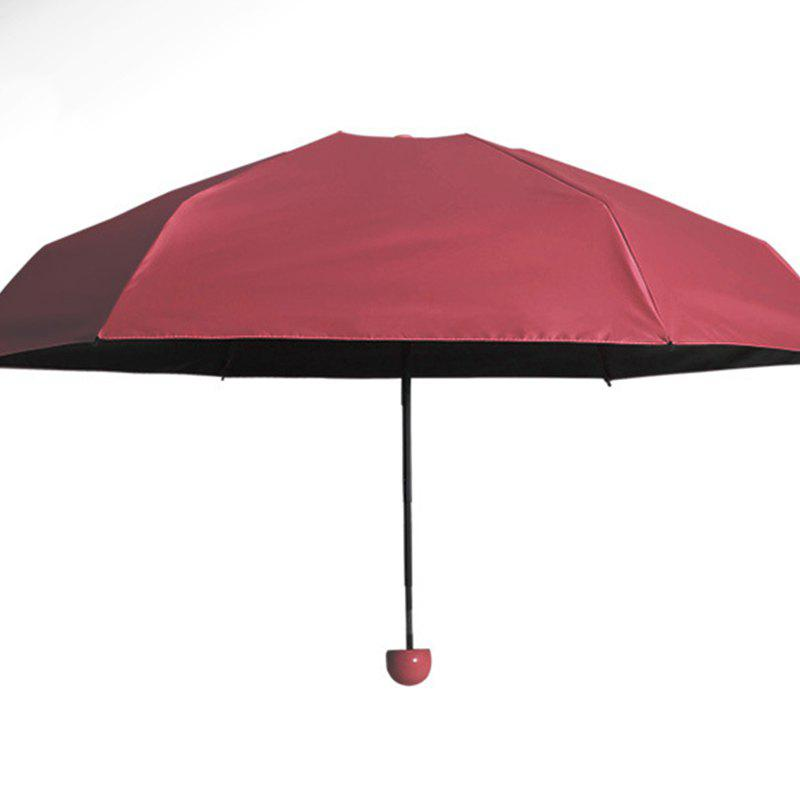 Super Mini Umbrella Sunscreen Capsule - RED AFTER FOLDING 17 X 4 CM