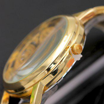 Hollow Perspective Alloy Steel Watch - GOLD