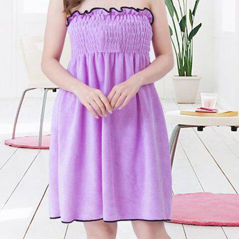 Bath Skirt Sweet Solid Super Supple Boob Tube Top Shower Dress - PURPLE 66CM X 60CM