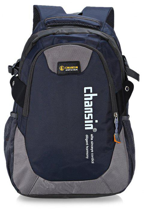 Water-resistant 25L Leisure Sports Backpack 14 inch Laptop Bag - DEEP BLUE