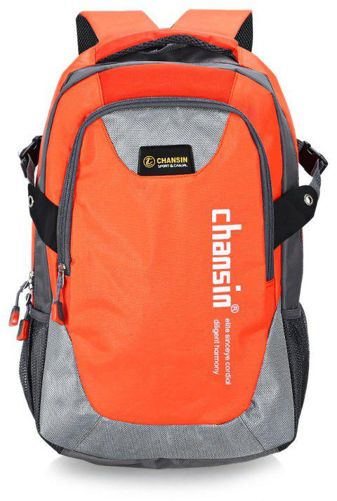 Water-resistant 25L Leisure Sports Backpack 14 inch Laptop Bag - ORANGE