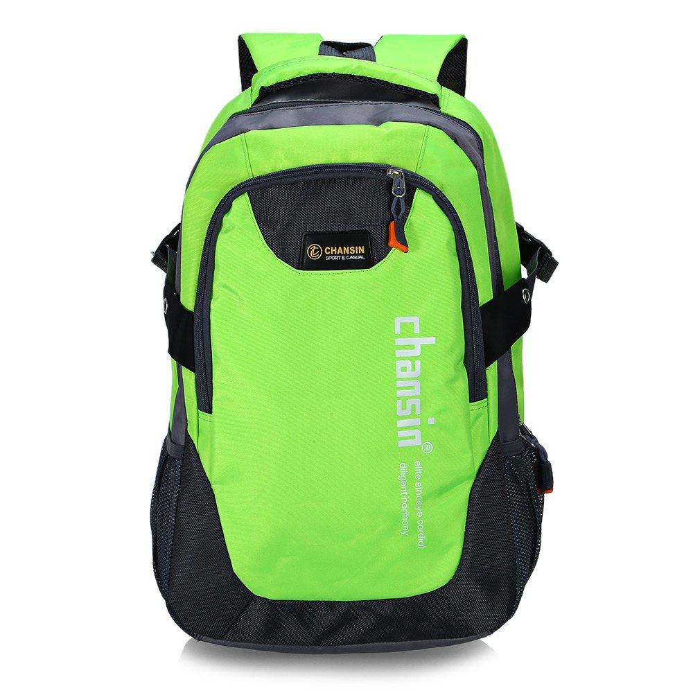 Water-resistant 25L Leisure Sports Backpack 14 inch Laptop Bag - GREEN