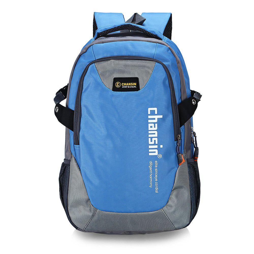 Water-resistant 25L Leisure Sports Backpack 14 inch Laptop Bag - LIGHT BLUE