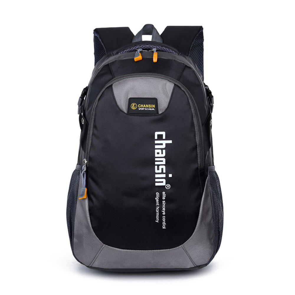 Water-resistant 25L Leisure Sports Backpack 14 inch Laptop Bag - BLACK