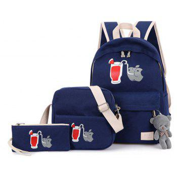 3 Pcs Girl s School Bags Set