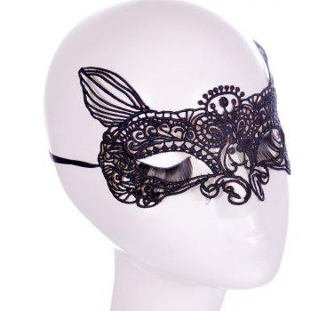 Fashion Club Bar Fun Lace Masque renard - Noir