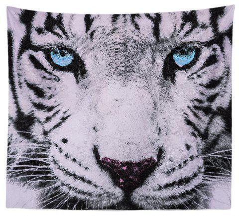 HD Digital Print Animal Portrait Lion Tiger Tapestry Beach Towel Multi-Specification - BLUE W51 INCH * L59 INCH