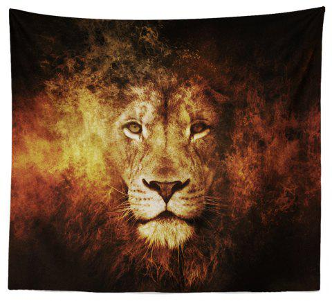 HD Digital Print Animal Portrait Lion Tiger Tapestry Beach Towel Multi-Specification - RED W59 INCH * L59 INCH