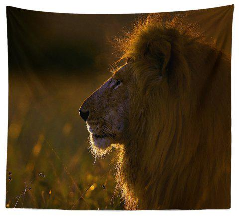 HD Digital Print Animal Portrait Lion Tiger Tapestry Beach Towel Multi-Specification - ORANGE W51 INCH * L59 INCH