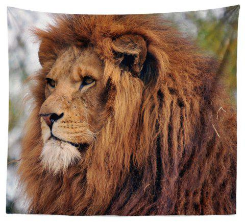 HD Digital Print Animal Portrait Lion Tiger Tapestry Beach Towel Multi-Specification - YELLOW W59 INCH * L59 INCH