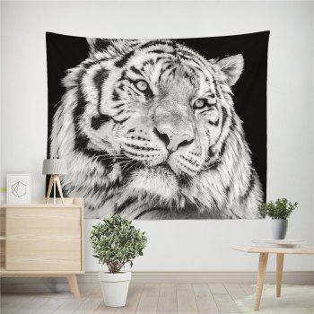 HD Digital Print Animal Portrait Lion Tiger Tapestry Beach Towel Multi-Specification - BLACK WHITE W59 INCH * L59 INCH