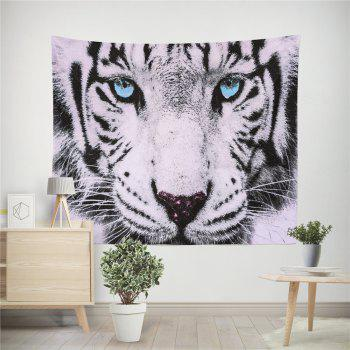 HD Digital Print Animal Portrait Lion Tiger Tapestry Beach Towel Multi-Specification - BLUE W59 INCH * L59 INCH