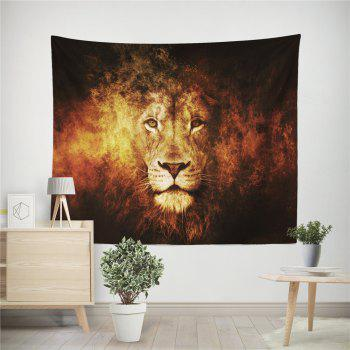 HD Digital Print Animal Portrait Lion Tiger Tapestry Beach Towel Multi-Specification - RED W59 INCH * L79 INCH