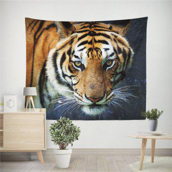 HD Impression numérique Animal Portrait Lion Tiger Tapisserie Serviette de plage Multi-Spécification - multicolor W59 INCH * L79 INCH