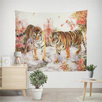 HD Impression numérique Animal Portrait Lion Tiger Tapisserie Serviette de plage Multi-Spécification - multicolorcolore W59 INCH * L79 INCH