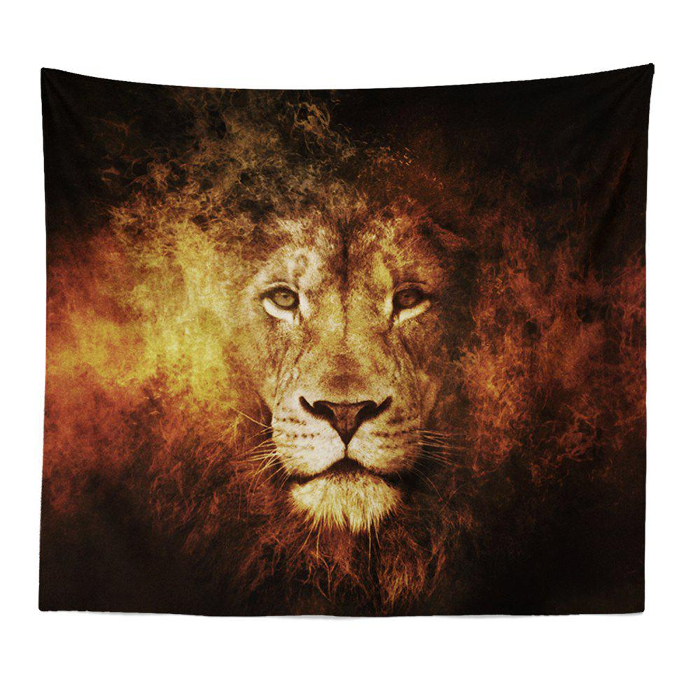HD Digital Print Animal Portrait Lion Tiger Tapestry Beach Towel Multi-Specification - RED W51 INCH * L59 INCH