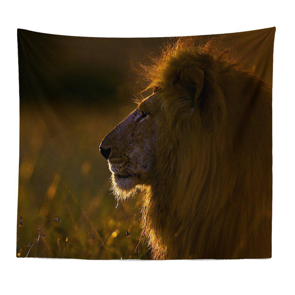 HD Impression numérique Animal Portrait Lion Tiger Tapisserie Serviette de plage Multi-Spécification - Orange W59 INCH * L79 INCH