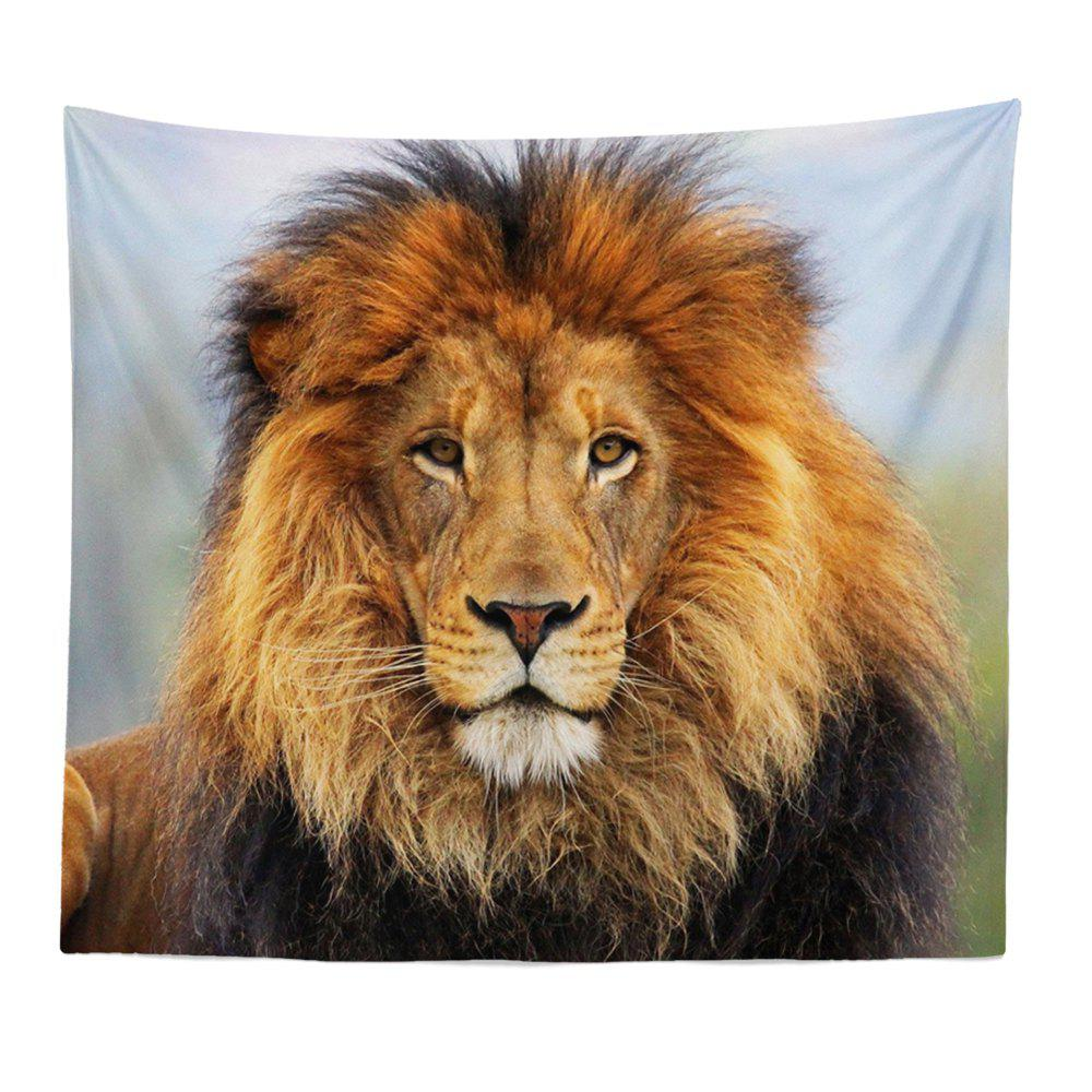HD Digital Print Animal Portrait Lion Tiger Tapestry Beach Towel Multi-Specification - CITRUS W51 INCH * L59 INCH