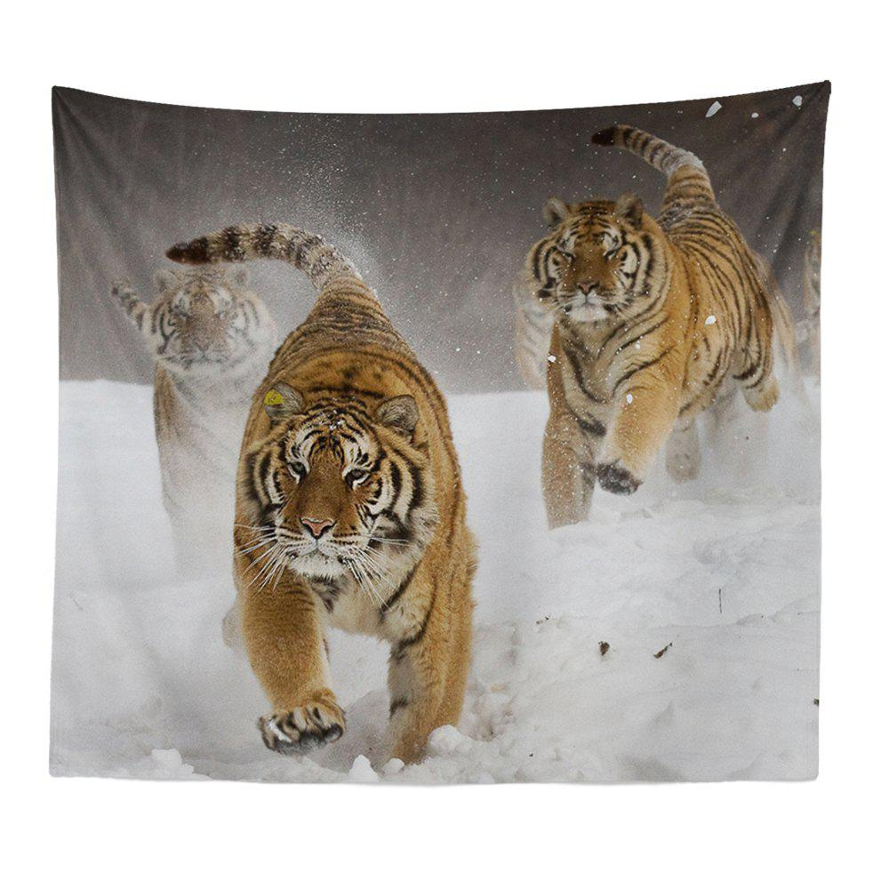 HD Digital Print Animal Portrait Lion Tiger Tapestry Beach Towel Multi-Specification - WHITE W51 INCH * L59 INCH