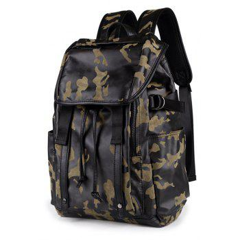 Large Capacity Camouflage Men s Leather Backpack