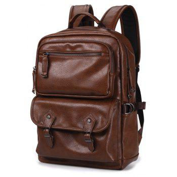 Men s Leather Backpack Korean Fashion Rucksack