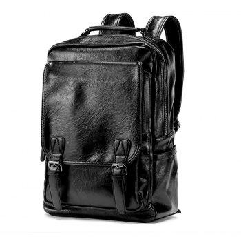 Korean Fashion Men s Leather Backpack Travel