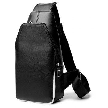 Men s Leather Chest Pack Sports Single
