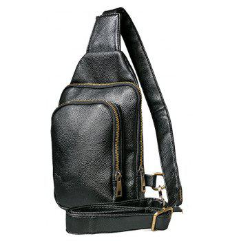 Vintage Leather Chest Pack Korean Casual Unbalance